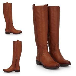 Sam Edelman Prina Whiskey Leather Brown Boots